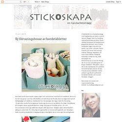 Stickoskapa: Sy förvaringsboxar av bordstabletter
