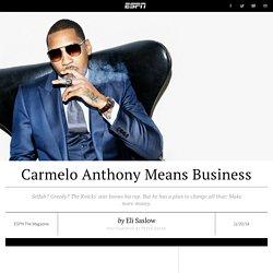 New York Knicks forward Carmelo Anthony wants a bulletproof reputation