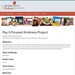 Pay It Forward Kindness Project