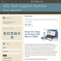 Know the Steps to Forward AOL Mail to GMail
