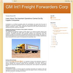 Learn About The Important Operations Carried Out By Logistic Companies