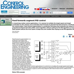 Feed forwards augment PID control