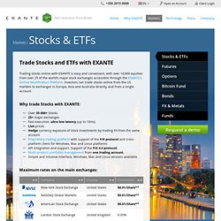 Stocks & ETFs — EXANTE — FX, Forwards FX, Bonds, Stocks, Futures, Options Broker.