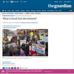 What is fossil fuel divestment?