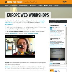 Fossil Free Europe – Europe Web Workshops