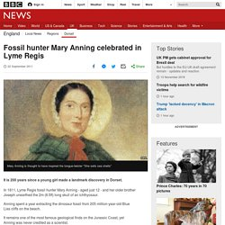 Fossil hunter Mary Anning celebrated in Lyme Regis
