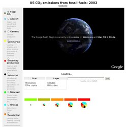 USA CO2 emissions from fossil fuel: 2002 (Project Vulcan)