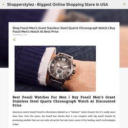 Shop Fossil Men's Grant Stainless Steel Quartz Chronograph Watch