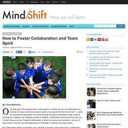 How to Foster Collaboration and Team Spirit