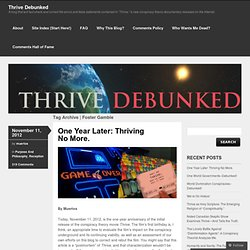Foster Gamble « Thrive Debunked