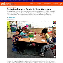 Fostering Identity Safety in Your Classroom