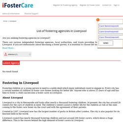 Fostering Agencies in Liverpool, Liverpool Forster Agency : iFosterCare