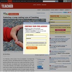 Fostering a Long-Lasting Love of Teaching