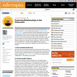 Fostering Relationships in the Classroom