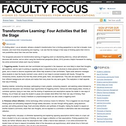 Fostering a Climate Conducive to Transformative Learning