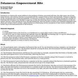 Fotamecus Empowerment Rite