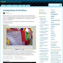 Fotoblog-Themes für Wordpress — 1000ff