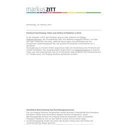 Fotobuch-Herstellung: Video zum Artikel in Publisher 1/2010