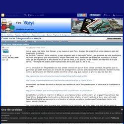 Yoryi (puntocom) - Modelismo y Maquetas - Como hacer fotograbados caseros - Tutoriales