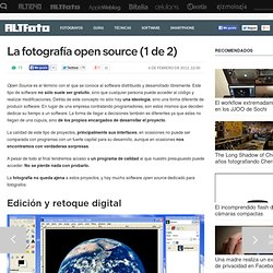 La fotografía open source (1 de 2)