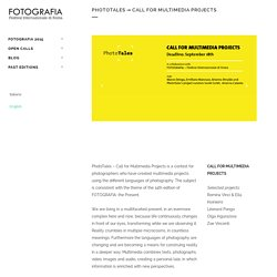 PhotoTales → Call for Multimedia Projects