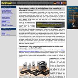 Criterios para la compra de un escáner de película fotográfica con unidad de transparencia: descripción de los criterios de compra, evaluación de los datos del productor y de las hojas de datos