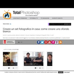 Creare un set fotografico in casa: come creare uno sfondo biancoTotal Photoshop - Il primo sito di Video tutorial in Italiano su Photoshop, Fotografia, Illustrator, Premiere, After Effects, Dreamweaver e WordPress - Total Photoshop - Il primo sito di Vide