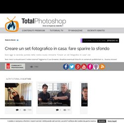 Creare un set fotografico in casa: fare sparire lo sfondoTotal Photoshop - Il primo sito di Video tutorial in Italiano su Photoshop, Fotografia, Illustrator, Premiere, After Effects, Dreamweaver e WordPress - Total Photoshop - Il primo sito di Video tutor