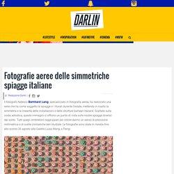 Fotografie aeree delle simmetriche spiagge italiane