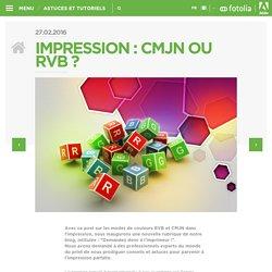 Fotolia FR » Impression : CMJN ou RVB ?