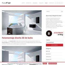 Fotomontaje diseño 3D de baño - PurePixel