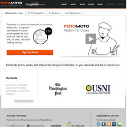 Sell Images and Print on Demand Products on Your Own Site | Fotomoto.com