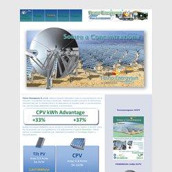 Tecno Energy Sun - Sunflower il Fotovoltaico a Concentrazione CPV e HCPV energia dal sole ad alto rendimento