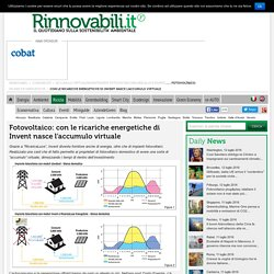 Fotovoltaico Ricariche Energetiche Invent Accumulo Virtuale