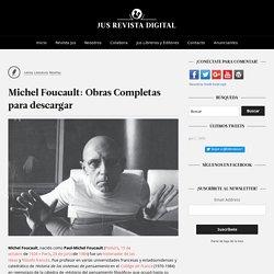 Michel Foucault: Obras Completas para descargar