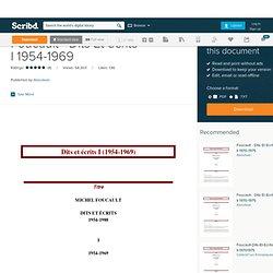 Foucault - Dits Et écrits I 1954-1969