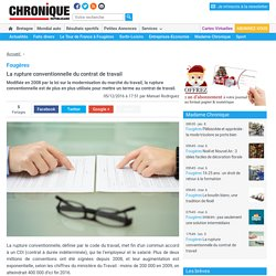 Fougères. La rupture conventionnelle du contrat de travail « Article