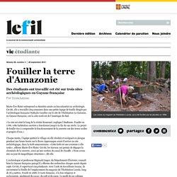 Fouiller la terre d'Amazonie
