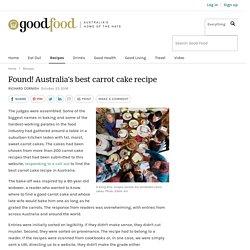 Found! Australia's best carrot cake recipe