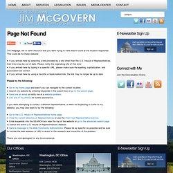 Congressman James McGovern : Contact Jim
