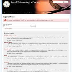 The Royal Entomological Society