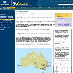 OzCoasts Climate change: Sea level rise maps