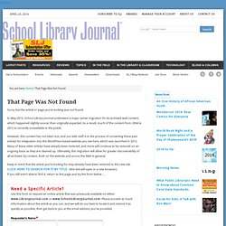 Ten Tips About 23 Things - 10/1/2008 - School Library Journal
