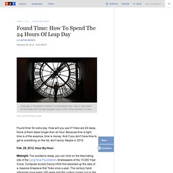Found Time: How To Spend The 24 Hours Of Leap Day : NPR