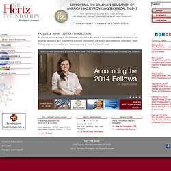 Hertz Foundation Fellowships