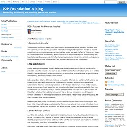 P2P Futures for Futures Studies