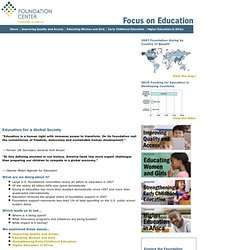 Foundation Center - Focus on Education