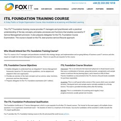 ITIL certification - Fox IT