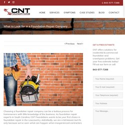 Foundation Repair Company in Charleston SC - CNT Foundations