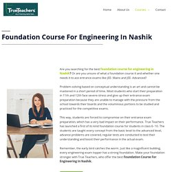 Foundation Course For NEET In Nashik